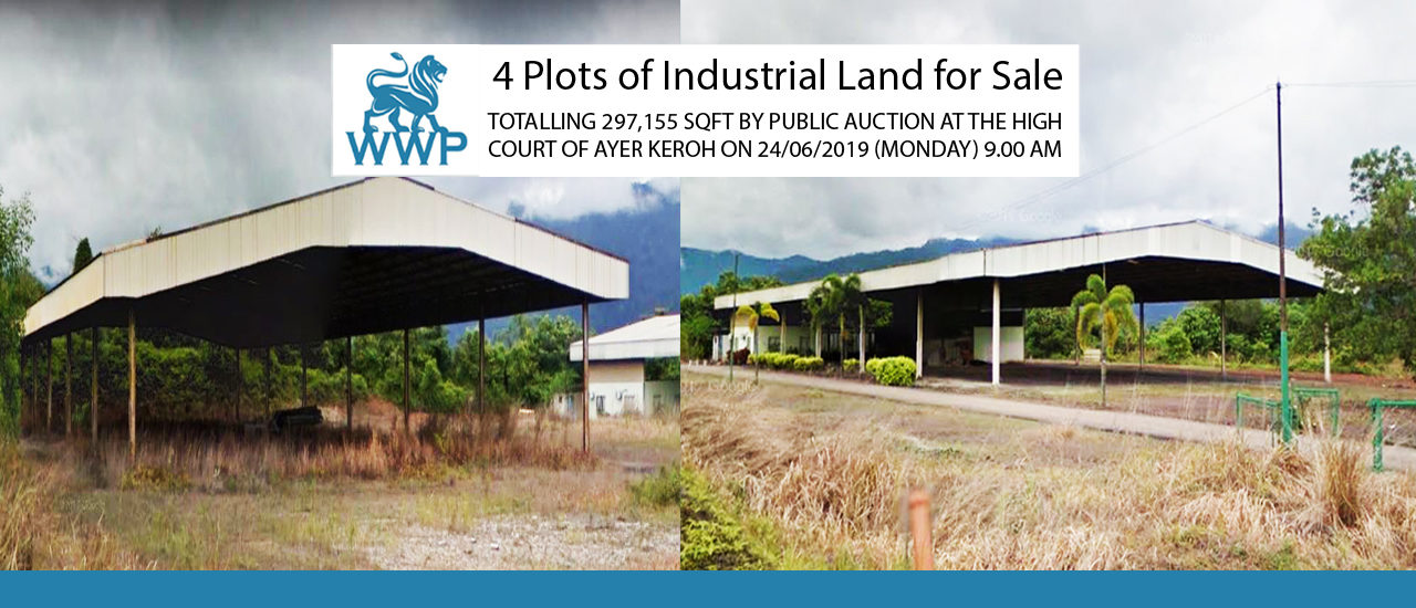 297,155 sqft Industrial Freehold Land For Auction – RM 4,119,579