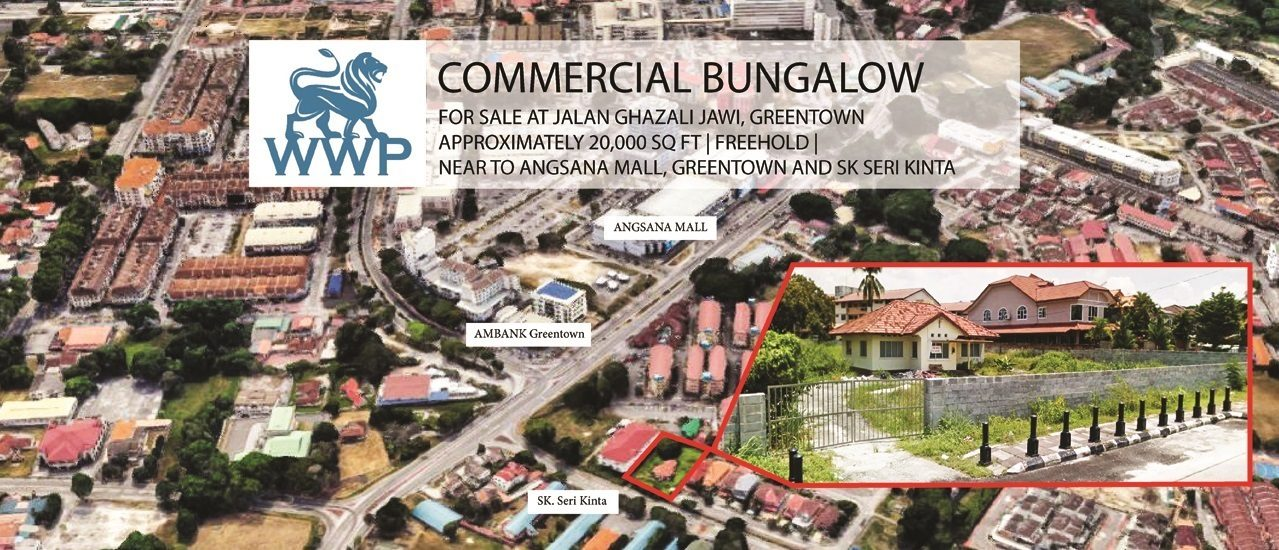 Ipoh Commercial Bungalow for Sale – RM2,300,000