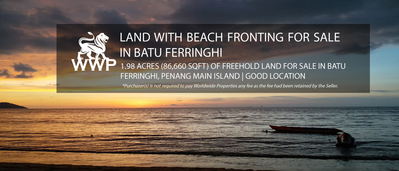 Prime Land Facing Beach for Sale | IV: RM 17,300,000